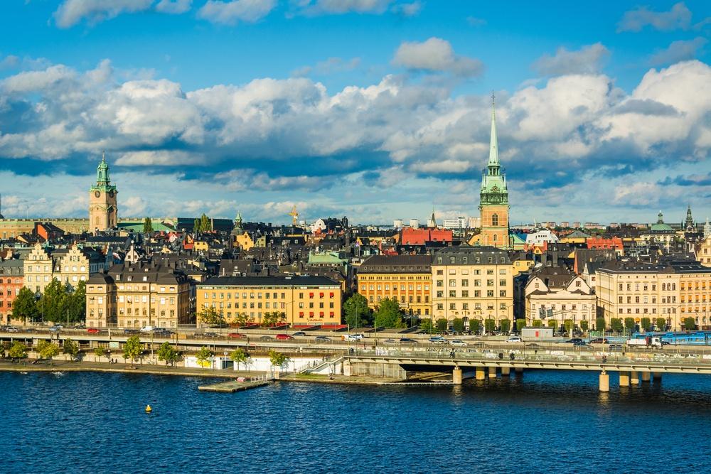 View of Galma Stan from Monteliusv�¤gen, in S�¶dermalm, Stockholm, Sweden.